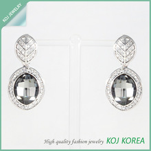 Glass Drop Earrings / 2014 Wholesale New arrival Fashion accessory, Imitation jewelry in Korea