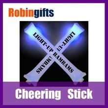 noise maker /light /party pvc cheer stick,pe cheer stick,light up cheering stick with pom poms