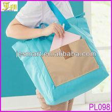 Korean Style Cheap Nylon Foldable Travel Shopping Bag Multifunction Large Tote Shopping Bag Organizer