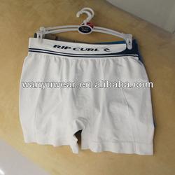 factory provide seamless plain white cotton mens underwear boxer briefs