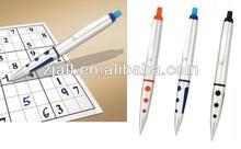 hot-selling silver color promotion eraser pen for games