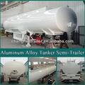 De exportación de nigeria 3 queroseno del eje de aluminio de camiones tanque con la ccc/certificado de la iso