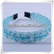 2014 lovely hairband plastic headbands with rhinestones