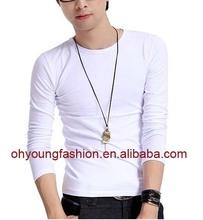 wholesale plain white tshirts/brand name cottont shirt/long sleeve shirts