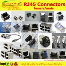 Top Entry RJ45 shield Modular PCB Connector/Jack SC216-5224S 8P8C-B