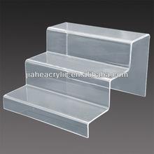 3 tier acrylic shoe display case, clear acrylic shoe display