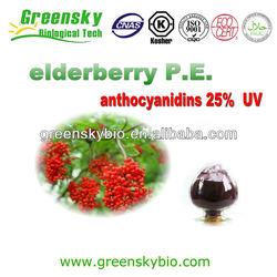 Natural Elderberry Anthocyanin 5%-70%/Natural food supplement elderberry extract