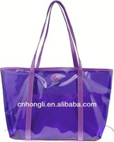 2014 design purple eco friendly bag reusable shopping bags