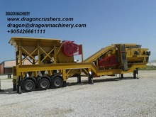 Used Mobile Crushing and screening plant Dragon crushers