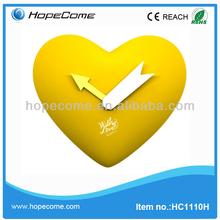 HC1110H heart shape sweet pendulum wall clocks art supply