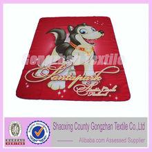 100 polyester animal printed kids blanket wholesale