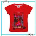 k1552 crianças estilo country da moda top tingido laço camiseta