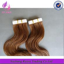 6A, 7A, 8A 100% human hair thin skin weft tape hair extensions