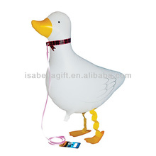 wholesale advertising foil animal white duck walking pet balloons