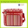 red stripe insulated cooler bag, fruit cooler bag, cans cooler bag