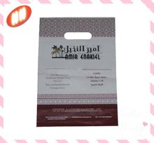 floral printed ldpe plastic die cut shopping bag