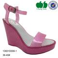 cuña de la moda las mujeres zapatos de tacón zapatos sandalias 2014