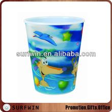 Custom kids 3D lenticular cup/3d lenticular drinking cup/3d lenticular plastic cup
