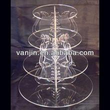 4 nível cisnes pilares de acrílico casamento e bolo de festa separadores / stands. 3051404318