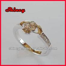 2014 wholesale 925 sterling silver claddagh wedding ring fashion diamond ring
