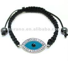 Evil eye bracelet,blue lucky eye charm,shamballa evil eye bracele,21015-9