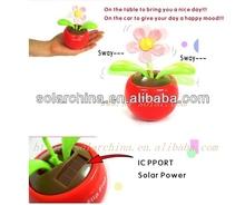 Flip Flap Solar Power Apple Flower Plant/car decoration/dancing/Unique Toys