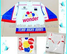 custom subimated ice hockey goalie jersey