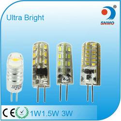 ce rohs smd silicone g4 led 220v lampada