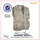 SUNNYTEX 100% Cotton New Design no sleeve custom mens cotton canvas working vest