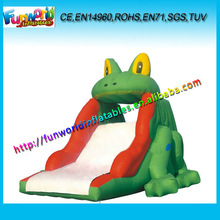 Popular Inflatable Frog Slide , Inflatable Slip and Slide FUNSL4010