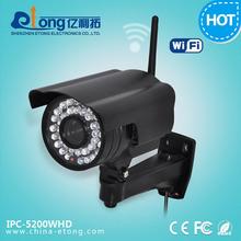Waterproof 2.0 Megapixel Wifi Bullet IP Camera support Mobile Phone Remote Control