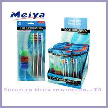 Made in China toothbrush display,retatil store department shop toothbrush cardboard hanging display stand