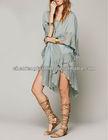 Gauzy cotton kaftan summer formal dresses