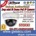 Mini bullet ir dôme ip caméras de vidéosurveillance de sécurité dahua ipc-hdb3200c poe. 2 mégapixels réseau ip caméra hd 1080p hikvision hdbw4200e