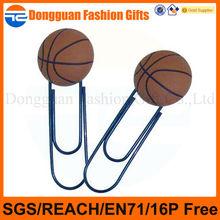 custom basketball design pvc fancy bookmark for promotion use