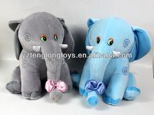 Lovely stuffed elephant shaped plush toys animal toys