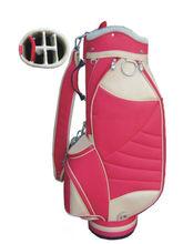 wholesale luxury handmade custom made personalized waterproof best womens ladies lightweight small nylon pink golf bags 2014