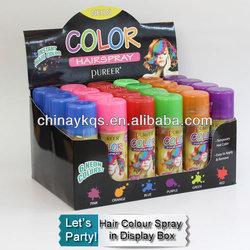 Colour Hair Paint / Hair Color Spray in display
