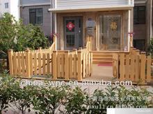outdoor garden decking include railing and pergola