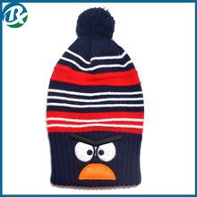"New style ""Bird"" design cotton Warm long cap Children 's knitted hats"