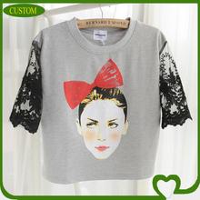 2014 custom high quality lady t-shirts