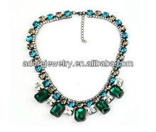 Cristal verde esmeralda imagens de diamante colar para meninas