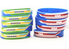 newest 2014 Brazil World Cup country's name flag silicone rubber wristbands bracelets