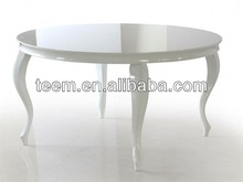 European new antique design round dining table quartz stone top dining tables