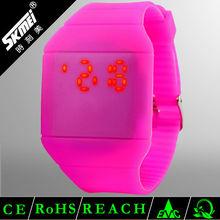 Skmei 2014 hot promotional rainbow led silicone slap watch