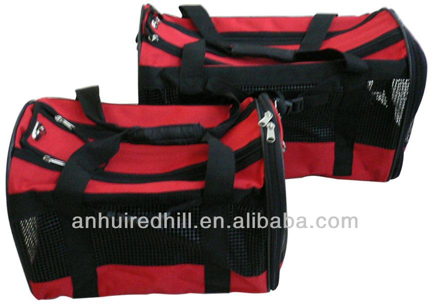 Foldable red dog bag