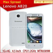 "Business MTK 6589 DUAL SIM QUAD CORE 4.5""MAX-Lenovo A820 Mobile phone"