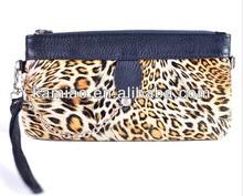 wholesale fancy leather leopard zipper closure ladies new look evening clutch bags 2014
