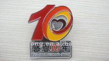 antique custom gold logo metal pin badges/name tag