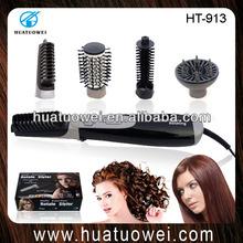 Hot air rotating electric round hair brush